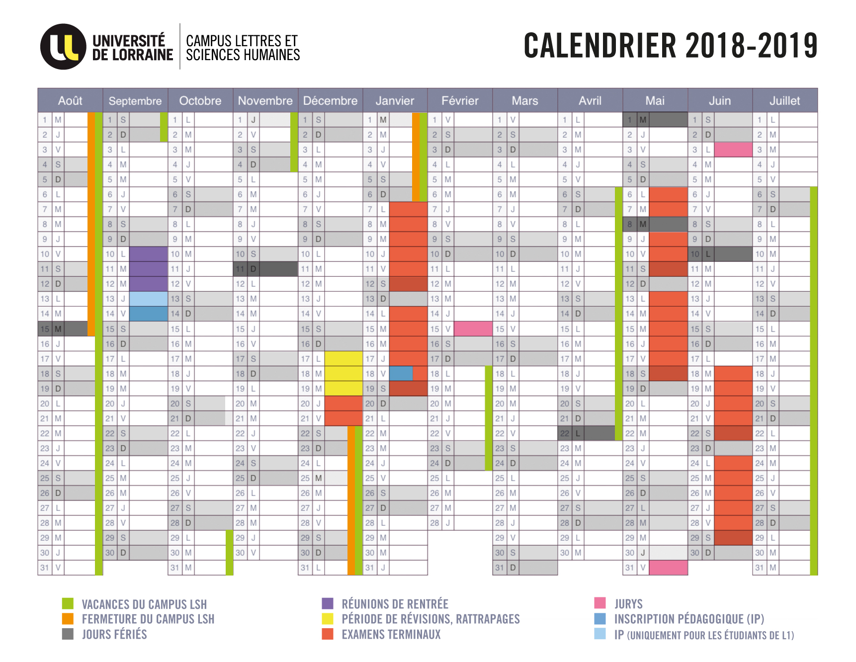 Sciences Po Calendrier Universitaire.Decouvrez Le Calendrier 2018 2019 Du Campus Lsh Campus